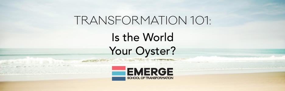 Transformation 101 – Part 1: Is the World Your Oyster?